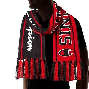 champion scarf knit reversible black red unisex